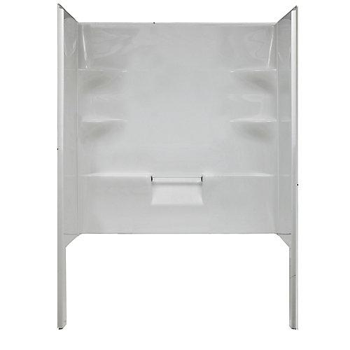 Ellis 60 - Parois de douche en acrylique (une paroi arrière et deux parois latérales)