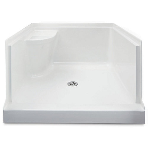 Ellis 42 Acrylic Shower Base With Seat- Right Hand