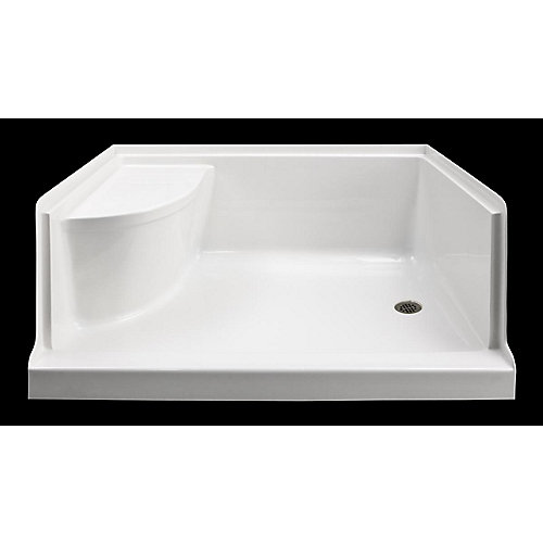Ellis 60 Xl Acrylic Shower Base With Seat- Right Hand