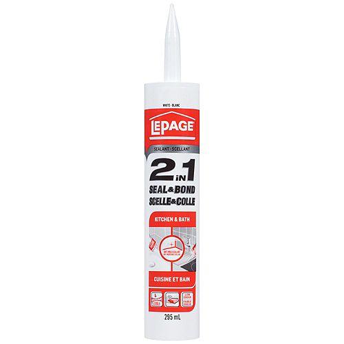 2 In 1 Seal & Bond Kitchen & Bath White 295Ml