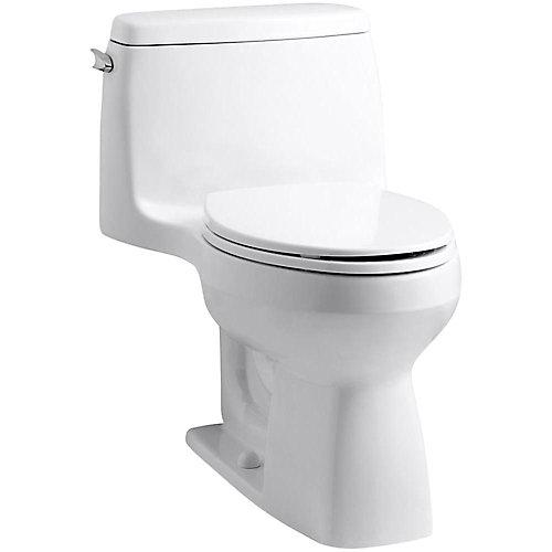 Toilette cuvette allongée à simple chasse Santa Rosa 1 pièce, blanc