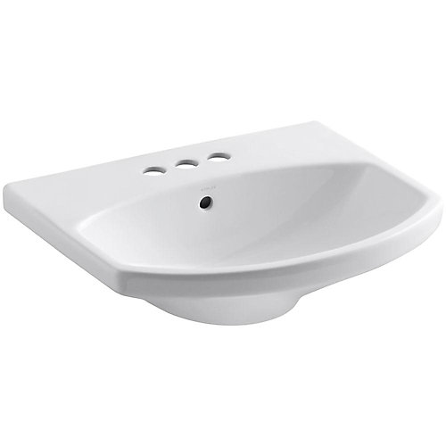 Cimarron(R) bathroom sink with 4 inch centerset faucet holes