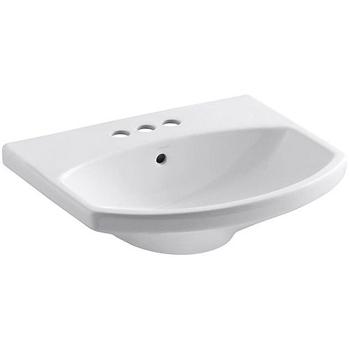 Cimarron(R) bathroom sink with 4 inch centerset faucet holes
