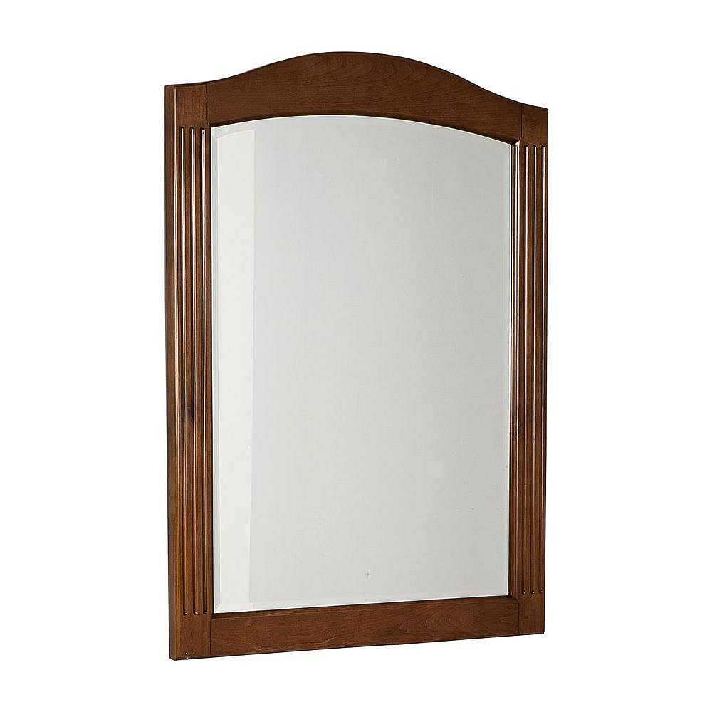 American Imaginations 24 Inch x 32 Inch Rectangle Wood Framed Mirror in Cherry Finish