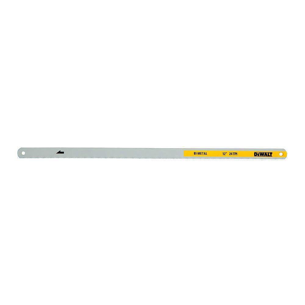 DEWALT 12-inch 24-TPI Bi-Metal Hacksaw Blade (2-Pack)