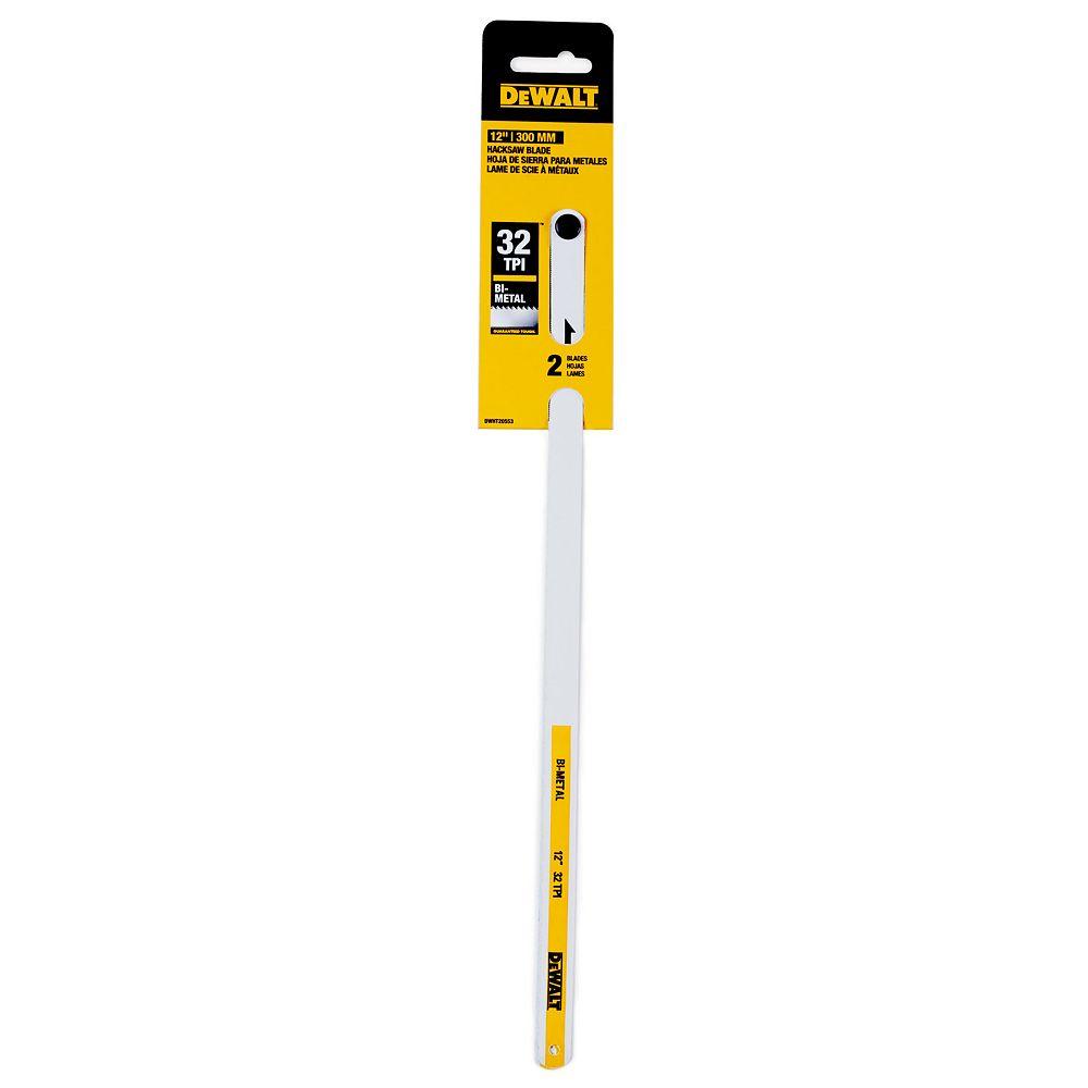 DEWALT 2pk 12 Inch  32tpi Hacksaw Blades