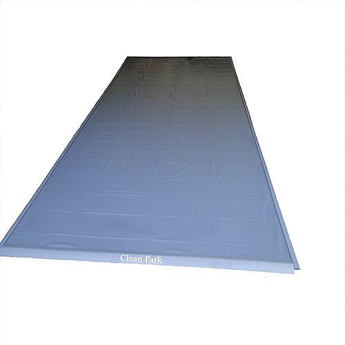 Couvre-sol renforcé 50 mil pour garage 7,5 Pi x 20 Pi Clean Park
