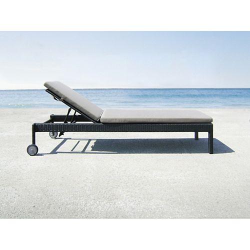 Florida Outdoor Chaise in Dark Grey (2-Pack)