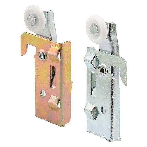 Prime-Line Assemblage de roulettes de porte de garde-robe gauche et droite.