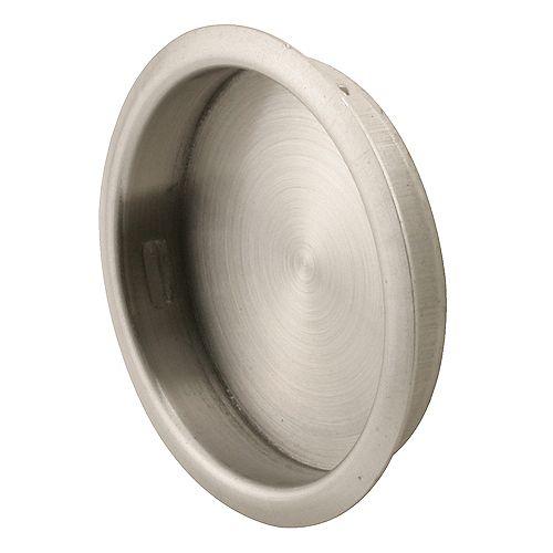 Tirette de porte de garde-robe – Nickel satiné de 4,4 cm (1-3/4 po).