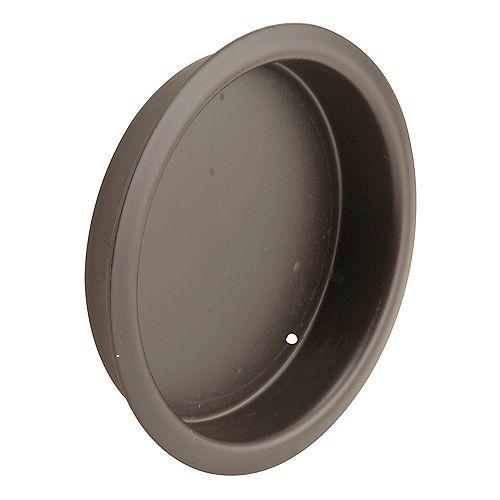 Sliding Closet Door Finger Pull, 2-1/8 in. Round, Classic Bronze (2-pack)