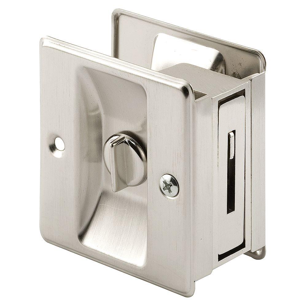 Prime-Line Satin Nickel, Pocket Door Privacy Lock