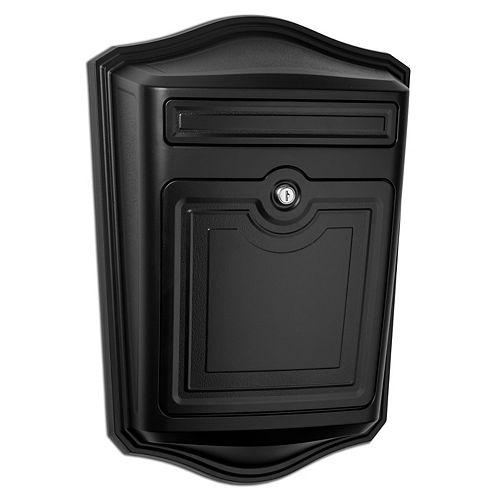 Architectural Mailboxes Boîte aux lettres murale noire Maison avec serrure