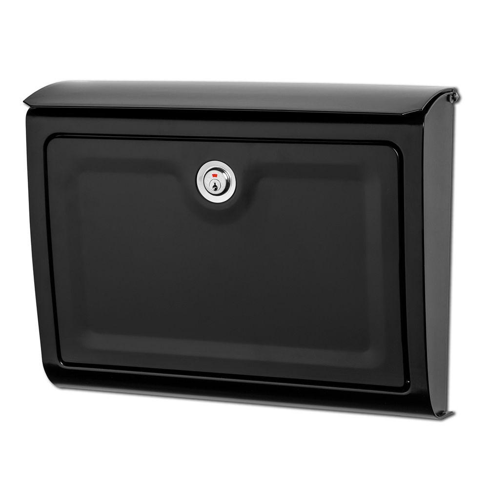 Architectural Mailboxes Whitman Locking Wall Mount Mailbox Black