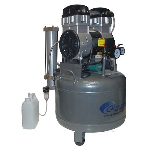 1020D 2.0 HP  10.0 Gal Ultra Quiet Oil-Free Steel Tank Air Compressor with Air Dyer