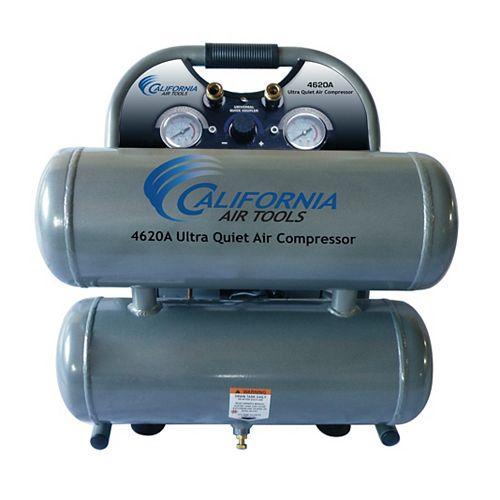 4620A  2.0 HP  4.6 Gal Ultra Quiet & Oil-Free Aluminum Twin Tank Air Compressor