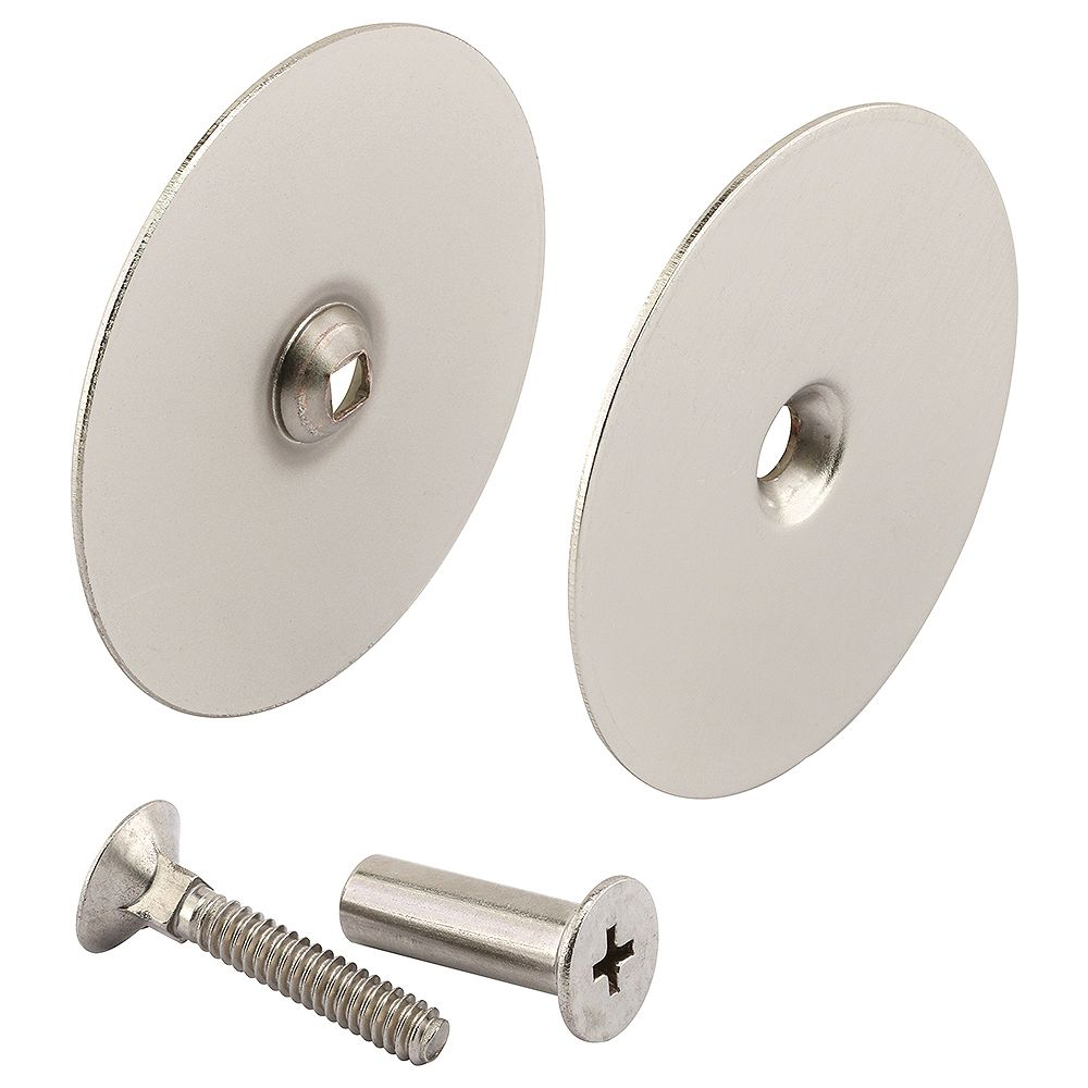 Prime-Line Door Hole Cover Plate, 2-5/8 in. Diameter, Satin Nickel