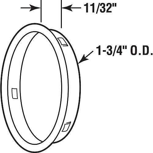 Prime-Line Fermoir de sécurité à clé, 4 po de longueur avec bouton rotatif, plaqué de chrome