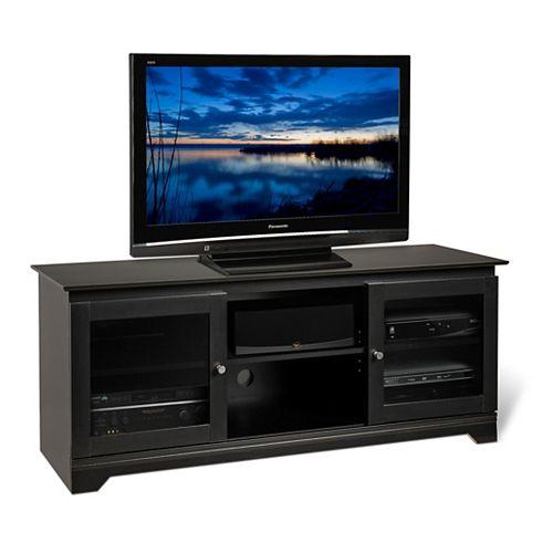 Black Francesca Flat Panel Plasma / LCD TV Console