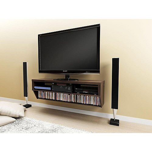 Espresso 58-inch Wide Wall Mounted AV Console - Series 9 Designer Collection