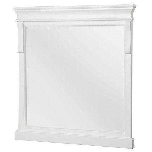 Naples blanc 24 po. miroir, 24 po (L) x 2 po (P) x 32 po (H)