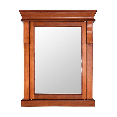 Foremost Naples 25-inch W x 31-inch H x 8-inch D Surface-Mount Bathroom Medicine Cabinet in Warm Cinnamon