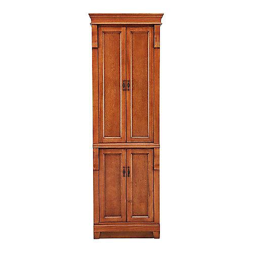 Naples 24-inch W x 18-inch Dx 74-inch H Bathroom Linen Cabinet in Warm Cinnamon
