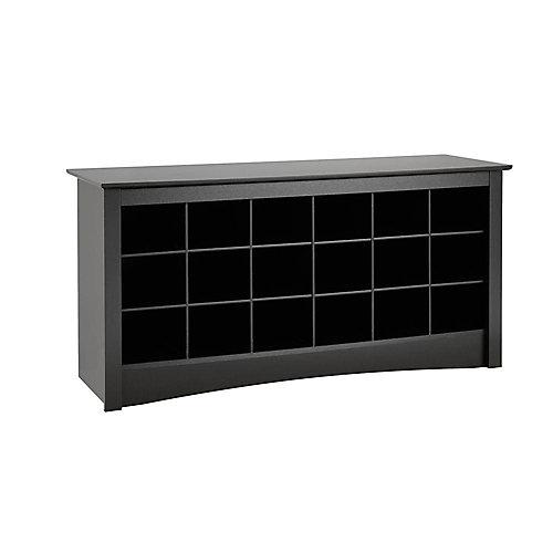 Shoe Storage Cubbie Bench in Black