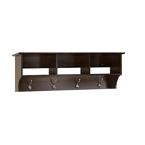 Espresso Entryway Shelf