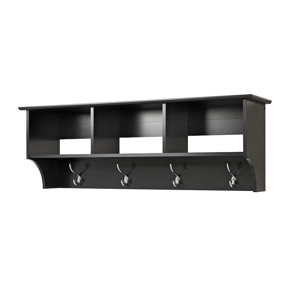 Prepac Black Entryway Cubbie Shelf