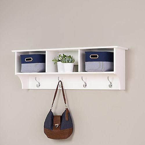 White Entryway Cubbie Shelf