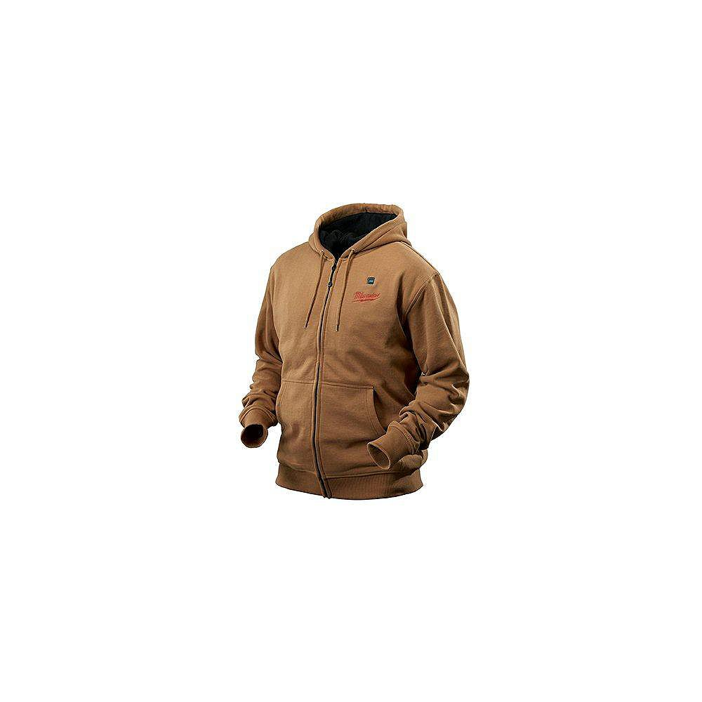 Milwaukee Tool M12 Cordless Khaki Heated Hoodie Only - Double Extra Large