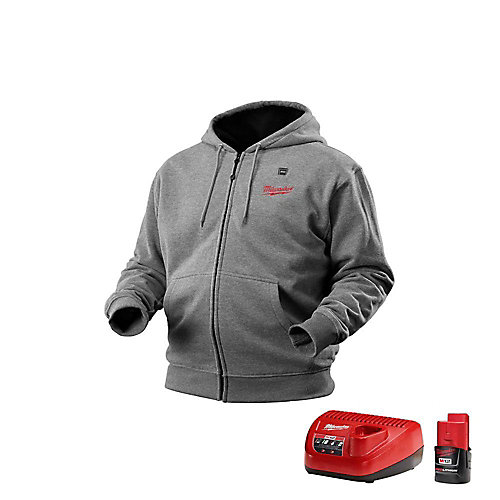 M12 Cordless Gray Heated Hoodie Kit - Double Extra Large