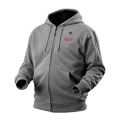 Veste chauffante à capuchon sans fil grise M12  - petit
