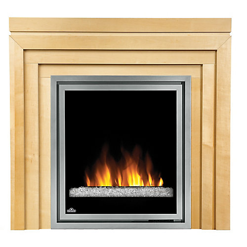 30 Inch Electric Fireplace Insert with Glass