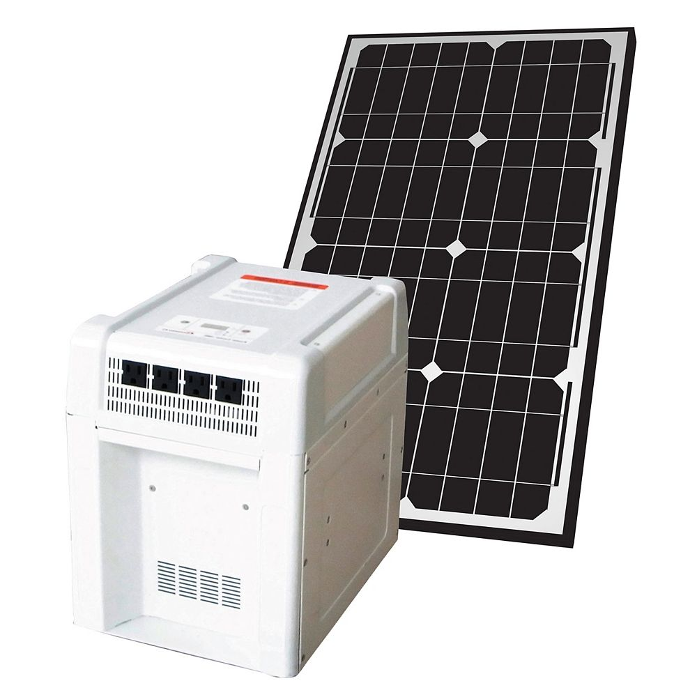 Nature Power 1800-Watt Solar Home and RV Battery Kit with 40-Watt Monocrystalline Solar Panel