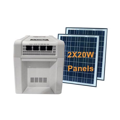 1800-Watt Solar Home and RV Battery Kit with 40-Watt Monocrystalline Solar Panel