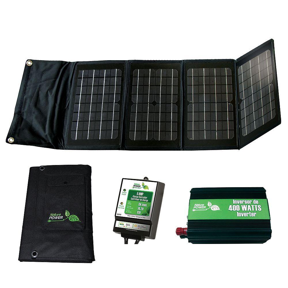 Nature Power 40-Watt Folding Solar Panel Kit