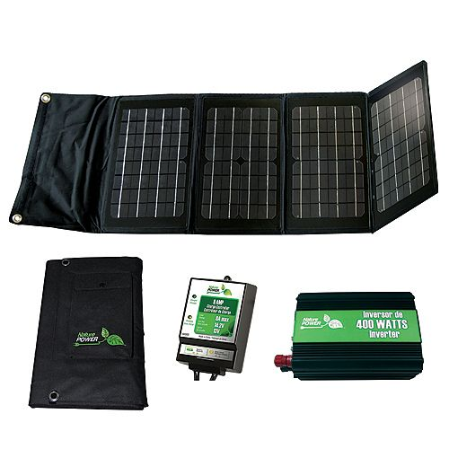 40-Watt Folding Solar Panel Kit