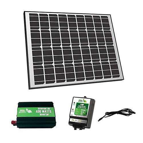 90W Solar Panel 12V Off-Grid Charger Kit