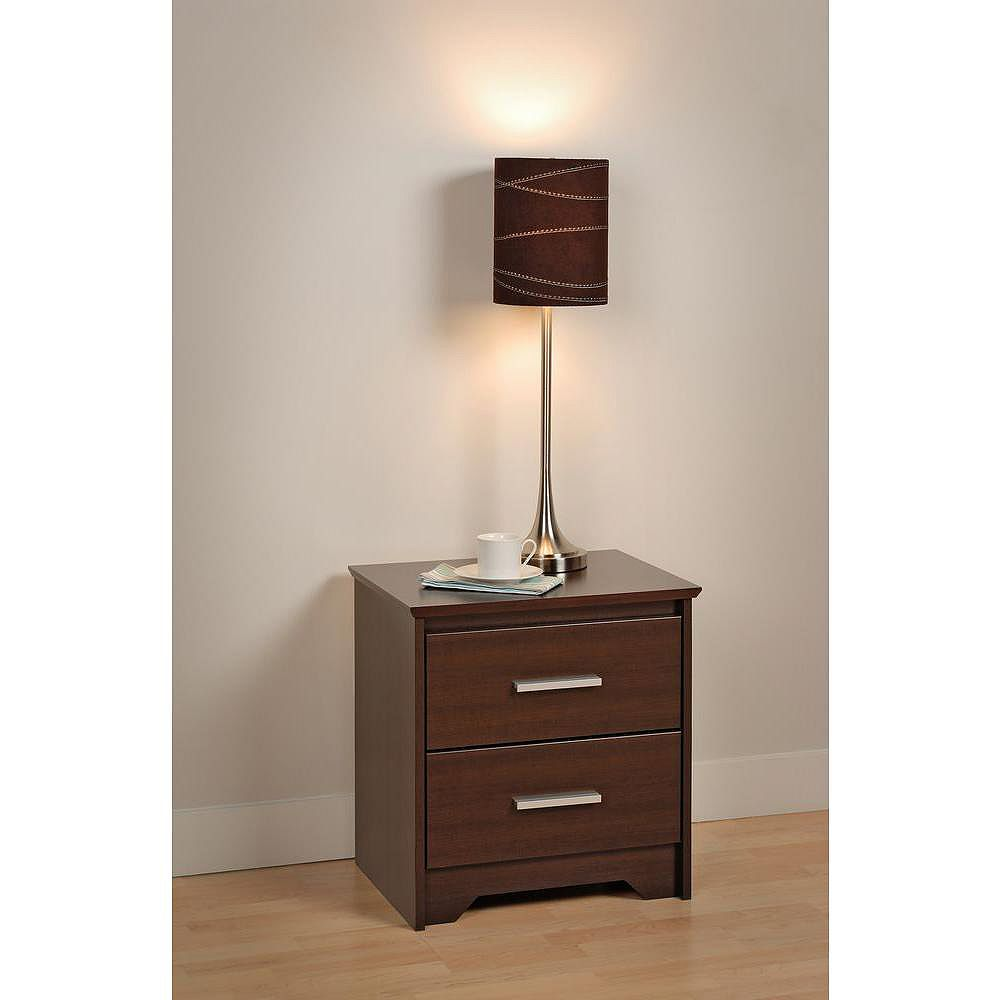 Prepac Coal Harbour 20.5-inch x 21.75-inch x 15.75-inch 2-Drawer Nightstand in Espresso