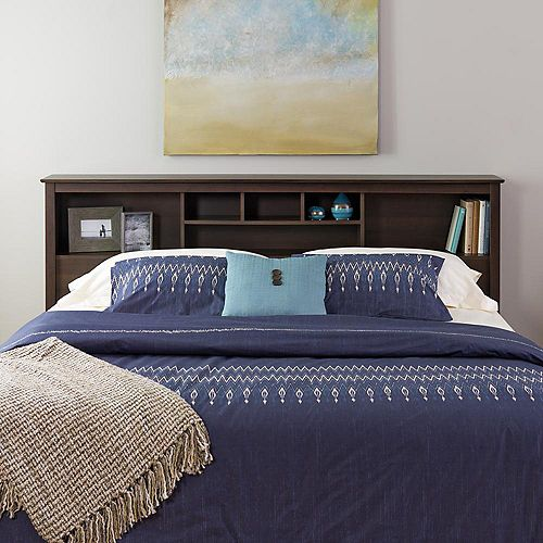 King Bookcase Headboard in Espresso