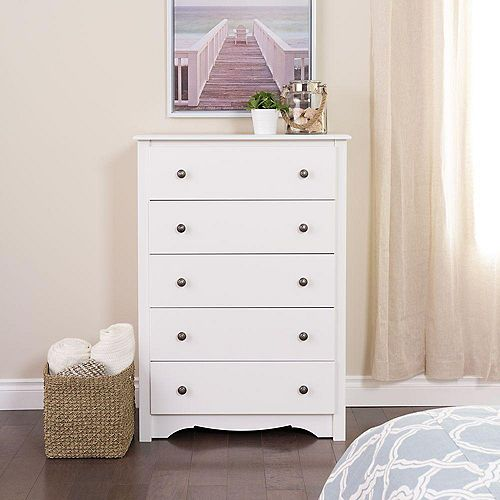 Monterey Monterey 5-Drawer Chest in White