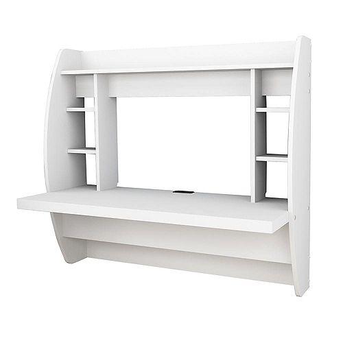 42.25-inch x 39.5-inch x 19.75-inch Standard Computer Desk in White