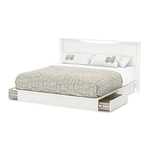 Majestic Pure White King-Size Headboard