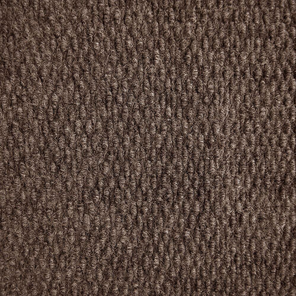 Lanart Rug Tapis de passage, 4 pi x longueur sur mesure, brun Impact Popcorn