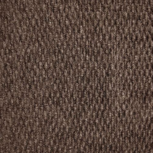 Tapis de passage, 4 pi x longueur sur mesure, brun Impact Popcorn