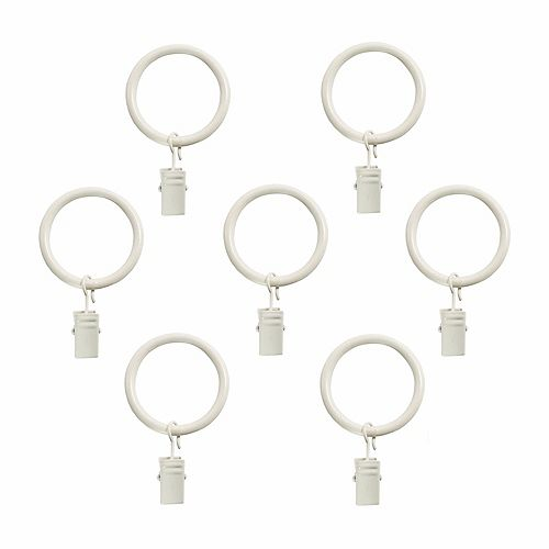5/8 Inch Clip Rings (7-Pack) In Distressed White Finish