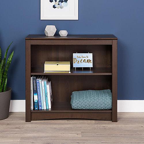 Manufactured Wood Bookcase in Espresso