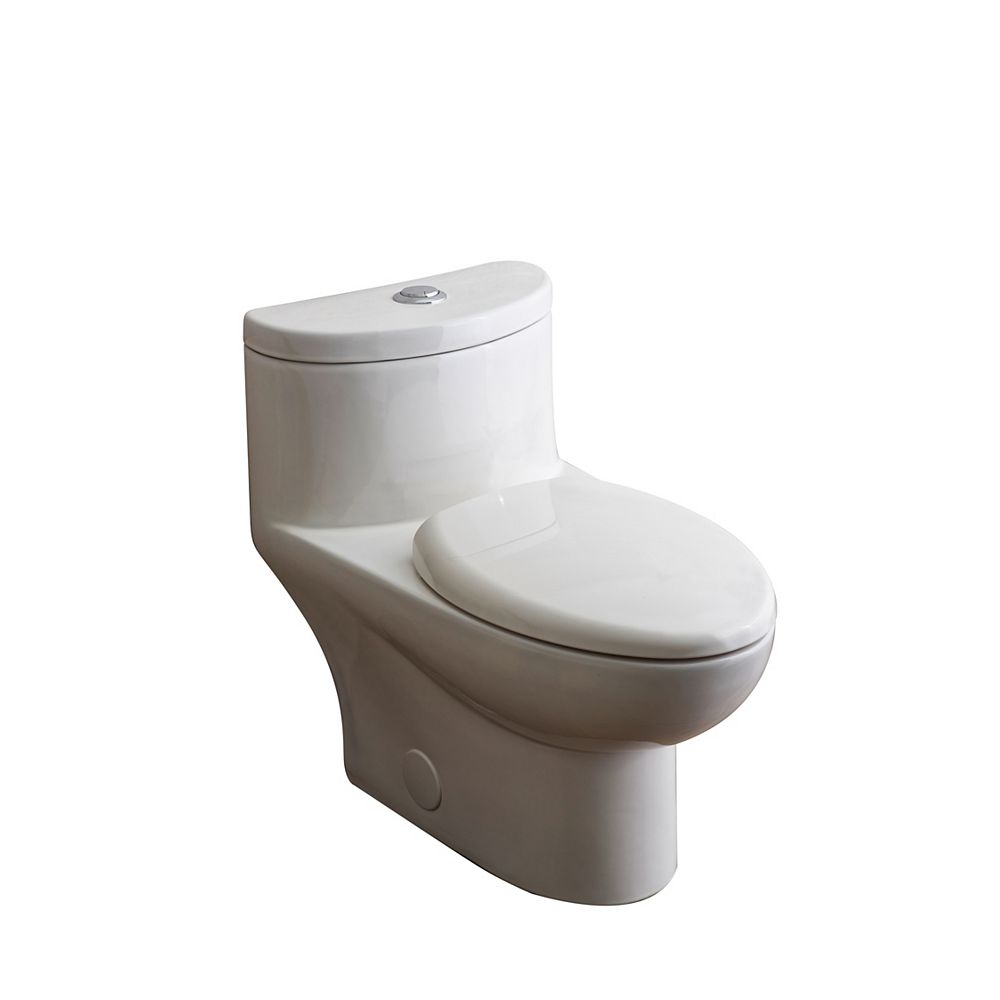 American Standard Tofino Concealed Trapway 1-piece 1.1/1.6 GPF Dual Flush Elongated Toilet in White
